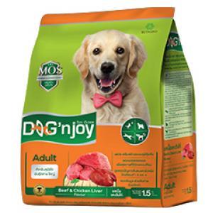 Dog'njoy สูตรสุนัขโตพันธุ์กลาง-ใหญ่ รสเนื้อ-ตับ 20กิโลกรัม