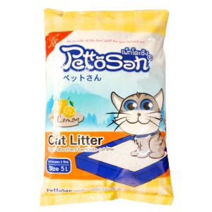 ทรายแมว Pettosan กลิ่นเลมอน ส่งฟรี