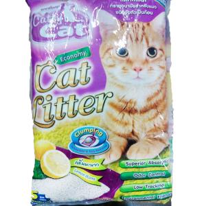 ทรายแมว Catty Cat กลิ่นเลมอน ส่งฟรี