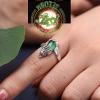 แหวนปี่เซี๊ยะหินหยกโมราสีเขียว
