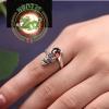 แหวนปี่เซี๊ยะหินหยกโมราสีแดง