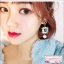 ต่างหูแฟชั่นสไตล์เกาหลี Luxury Rhinestone Charm Pearl Drop Earrings for Women Girls Vintage Korean Long Earring Jewelry