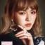 ต่างหูแฟชั่นสไตล์เกาหลี New Large Love Heart Pearl String Long Drop Dangle Earrings