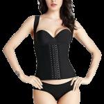 ชุดกระชับสัดส่วน ที่รัดหน้าท้อง (สีดำ) Vest Trainer Corset By Sara Beauty