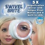 กระจกแบบมีไฟ LED ขยาย 5X (Swivel brite) 360องศา