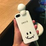 เคส iPhone Smile สีขาว มีไฟ Selfie