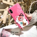 เคส iPhone แมวกวัก แมวนำโชค สีชมพู