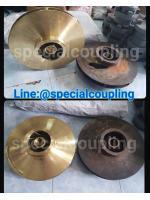 รับผลิตใบพัดทองเหลืองขนาด OD 400MM L 140 MM ID 48MM พร้อมบาลานส์ ขายส่งและปลีก