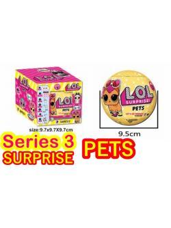 พร้อมส่ง ใหม่ล่าสุด! ไข่สุ่ม ไข่เซอร์ไพรส์ ไข่LOL Surprise Egg Series 3 Pets สัตว์เลี้ยง ลูกใหญ่ 10 ซม แพ็คเดี่ยว