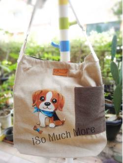 กระเป๋าเพ้นท์ลายน้องหมา i002