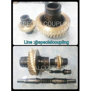 """รับผลิตเฟืองทองเหลืองบรอนส์แข็งLBC ดุมเดิม หรือหล่อใหม่ทั้งหมด พร้อมทำแกน SCM4 รอสินค้า10-15วันคะ (ตัวใหญ่OD 220MM หนา55มิล 39T ตัวเล็ก OD 5"""" หนา 3cm.39T) ขายส่งและปลีก"""