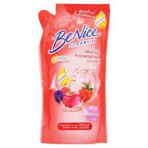 บีไนซ์ครีมอาบน้ำ ถุง 400 มล. แดง
