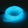 EL Wire 5 เมตร + รางถ่าน AA 2 ก้อน / สีไอซ์บลู