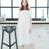 👗V-neck Short-sleeved maxidress_White