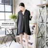 เสื้อผ้าเชิ้ตแนว Oversize สีดำ