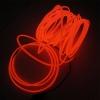 EL Wire 5 เมตร + รางถ่าน AA 2 ก้อน / สีแดง