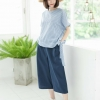 Devy Cotton Linen Top 👚_Blue Stripe