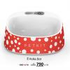 ถาดให้อาหารสัตว์เลี้ยง Smart Bowl - PETKIT Fresh มีเครื่องชั่งดิจิตอลในตัว วัสดุ anti-bacteria สีแดง Polka Dot