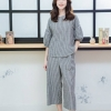Balloon sleeve top + pants set _gray