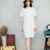 😀short-sleeved linen dress shirt😀_White