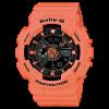 นาฬิกา คาสิโอ Casio Baby-G Girls' Generation Street Neon Duo Color series รุ่น BA-111-4A2 สีแซลมอน salmon ของแท้ รับประกันศูนย์ 1 ปี