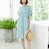 Kiara Dress (Cotton Linen Fabric)_Blue