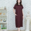 Short-sleeved maxidress scott _red