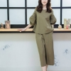 Balloon sleeve top + pants set _Military Green