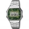 นาฬิกา CASIO ดิจิตอล สีเงินทหาร รุ่น A168WEC-3 STANDARD DIGITAL ของแท้ รับประกันศูนย์ 1 ปี