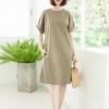Kiara Dress (Cotton Linen Fabric)_Military Green