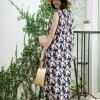 Sleeveless Maxi Dress - Summer Collection_Navy Blue