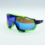 แว่นตาปั่นจักรยาน 100% ทรง Speedtrap เฟรมสีเขียว-ดำ