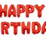 ลูกโป่งฟอยล์ HAPPY BIRTHDAY [ยกเซต] ขนาด 16 นิ้ว-สีแดง