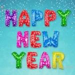 ลูกโป่งฟอยล์ HAPPY NEW YEAR [ยกเซต] ขนาด 16 นิ้ว - หลากสี