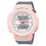 นาฬิกา Casio Baby-G for Running BGA-240 series Twotone Color Block รุ่น BGA-240-4A2 (ชมพูนม) ของแท้ รับประกัน1ปี