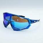 แว่นตาปั่นจักรยาน 100% ทรง Speedtrap เฟรมสีฟ้า