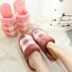 TL06 รองเท้าใส่ในบ้าน น้ำตาลแดง size 40-41