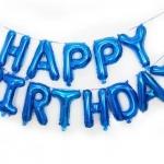 ลูกโป่งฟอยล์ HAPPY BIRTHDAY [ยกเซต] ขนาด 16 นิ้ว-สีน้ำเงิน