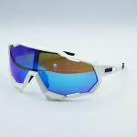 แว่นตาปั่นจักรยาน 100% ทรง Speedtrap เฟรมสีขาว