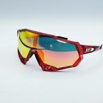 แว่นตาปั่นจักรยาน 100% ทรง Speedtrap เฟรมสีแดง