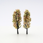 โมเดลต้นไม้ 3 สี (เขียว ขาว ส้ม) สูง8.5 ซม. (1x2)