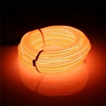 EL Wire 5 เมตร + รางถ่าน AA 2 ก้อน / สีส้ม