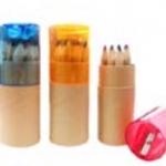 ชุดดินสอสีไม้แบบมีกบเหลาที่ฝา