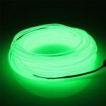 EL Wire 5 เมตร + รางถ่าน AA 2 ก้อน / สีเขียวเข้ม