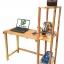 K'DAUZ โต๊ะคอมพิวเตอร์ โต๊ะเขียนหนังสือ โต๊ะทำงาน พร้อมชั้นวาง
