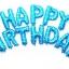 ลูกโป่งฟอยล์ HAPPY BIRTHDAY [ยกเซต] ขนาด 16 นิ้ว-สีฟ้าลายดาว