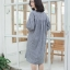 Balloon Sleeved everyday dress_Gray [Stripe]