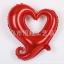 ฟอยล์ตกแต่งรูปหัวใจ [สีแดง]