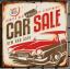 ภาพสังกะสีรูป Car sale ขนาด 30*30cm win17 thumbnail 1