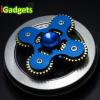 Hand Spinner เฟือง 4 แฉก งานอลูมิเนียม เกรดพรีเมี่ยม (สีน้ำเงิน)